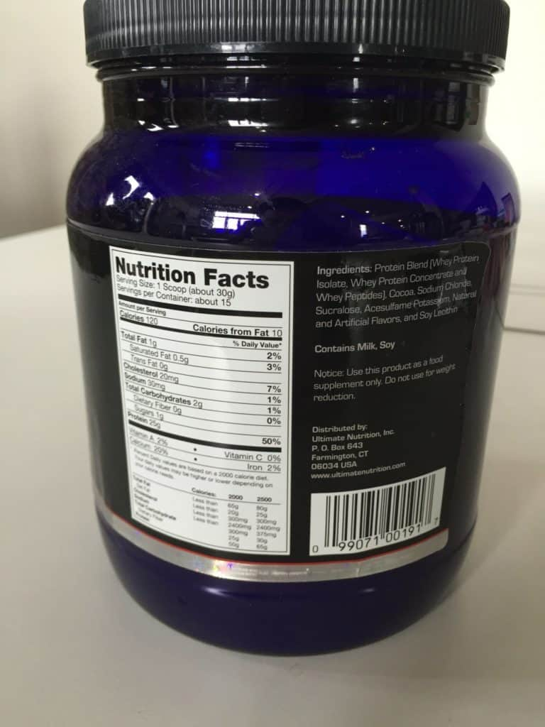 Ultimate Nutrition (UN) Prostar Whey Protein